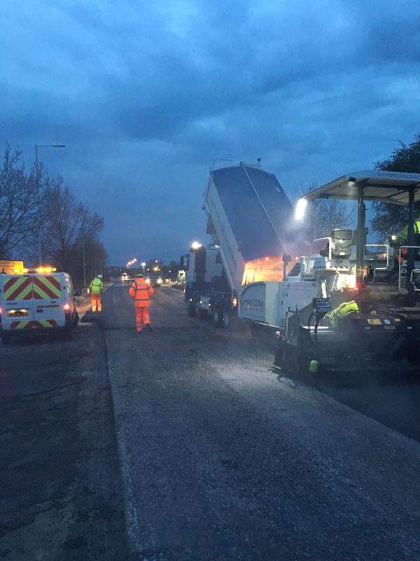 Full Road Reconstruction - Recom Surfacing