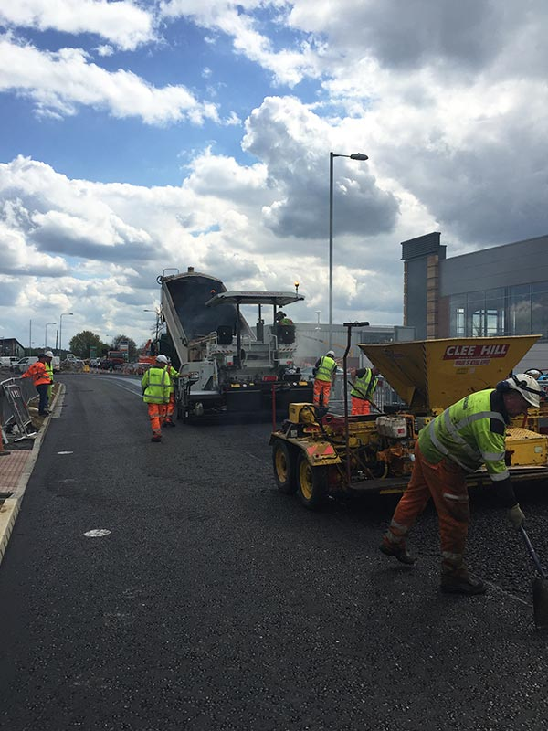 Full Road and Roundabout Reconstruction - Recom Surfacing